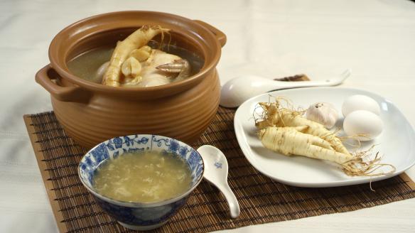 蒜頭參雞湯圖片4